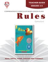 Rules Novel Unit Teacher Guide