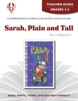 Sarah Plain And Tall Novel Unit Teacher Guide