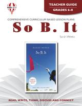So B. It Novel Unit Teacher Guide