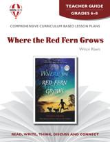Where The Red Fern Grows Novel Unit Teacher Guide (PDF)