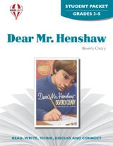 Dear Mr. Henshaw Novel Unit Student Packet