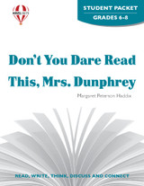 Don't You Dare Read This, Mrs. Dunphrey Novel Unit Student Packet