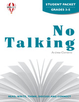 No Talking Novel Unit Student Packet