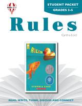 Rules Novel Unit Student Packet