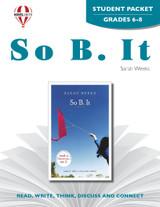 So B. It Novel Unit Student Packet