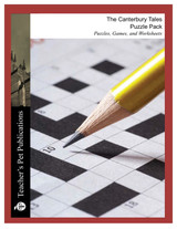 Canterbury Tales Puzzles, Worksheets, Games | Puzzle Pack