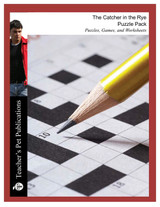 The Catcher in the Rye Puzzle Pack Worksheets, Activities, Games (Download)