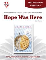 Hope Was Here Novel Unit Teacher Guide