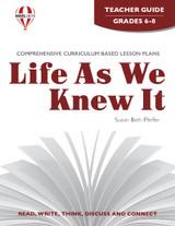 Life As We Knew It Novel Unit Teacher Guide