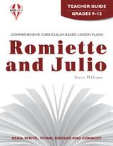 Romiette And Julio Novel Unit Teacher Guide