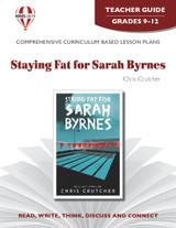 Staying Fat For Sarah Byrnes Novel Unit Teacher Guide