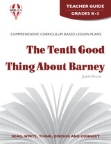 The Tenth Good Thing About Barney Novel Unit Teacher Guide
