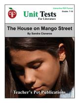 The House On Mango Street Interactive PDF Unit Test