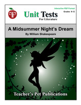 A Midsummer Night's Dream Interactive PDF Unit Test