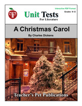 A Christmas Carol Interactive PDF Unit Test