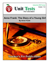 Anne Frank: The Diary of a Young Girl Interactive PDF Unit Test