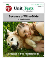 Because of Winn-Dixie Interactive PDF Unit Test