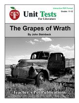 The Grapes of Wrath Interactive PDF Unit Test