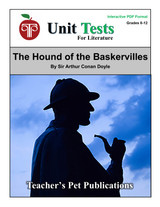 The Hound of the Baskervilles Interactive PDF Unit Test
