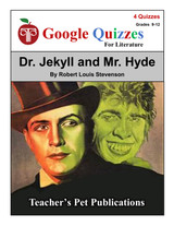 Dr. Jekyll and Mr. Hyde Google Forms Quizzes