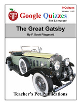 The Great Gatsby Google Forms Quizzes