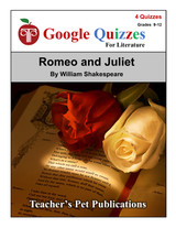 Romeo and Juliet Google Forms Quizzes