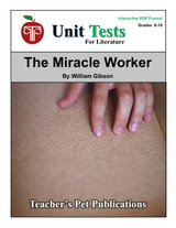 The Miracle Worker Interactive PDF Unit Test