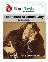 The Picture of Dorian Gray Interactive PDF Unit Test