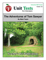 The Adventures of Tom Sawyer Interactive PDF Unit Test