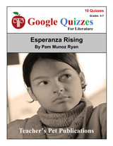 Esperanza Rising Google Forms Quizzes