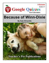 Because of Winn-Dixie Google Forms Quizzes