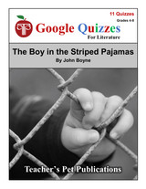 The Boy in the Striped Pajamas Google Forms Quizzes