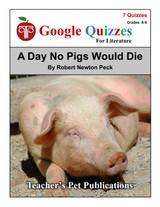 A Day No Pigs Would Die Google Forms Quizzes
