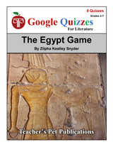 The Egypt Game Google Forms Quizzes