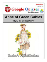 Anne of Green Gables Google Forms Quizzes