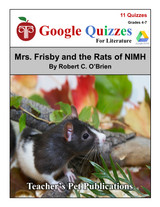 Mrs. Frisby And The Rats Of NIMH Google Forms Quizzes