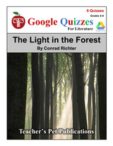 The Light in the Forest Google Forms Quizzes