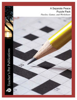 A Separate Peace Puzzle Pack Worksheets, Activities, Games