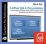 Black Boy Study Questions on Presentation Slides | Q&A Presentation