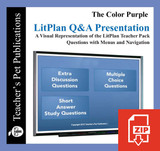 The Color Purple Study Questions on Presentation Slides | Q&A Presentation
