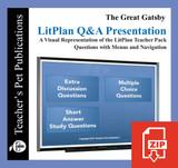 The Great Gatsby Study Questions on Presentation Slides   Q&A Presentation