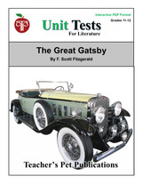The Great Gatsby Unit Test Interactive PDF   Great for Google Classroom!