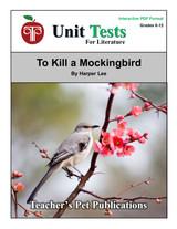 To Kill a Mockingbird Interactive PDF Unit Test