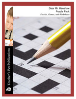 Dear Mr. Henshaw Puzzle Pack - Worksheets, Activities, Games