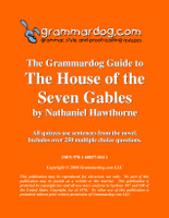 The House of the Seven Gables Grammardog Guide