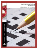 Much Ado About Nothing Worksheets, Activities, Games