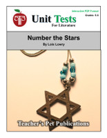 Number the Stars Interactive PDF Unit Test