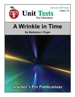 A Wrinkle in Time Interactive PDF Unit Test