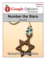 Number the Stars Google Forms Quizzes