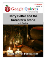 Harry Potter & the Sorcerer's Stone Google Forms Quizzes